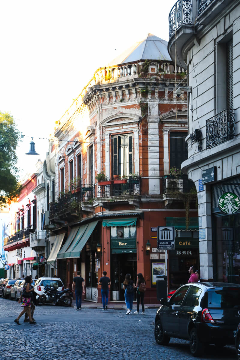 The old barrio of San Telmo in historic Buenos Aires