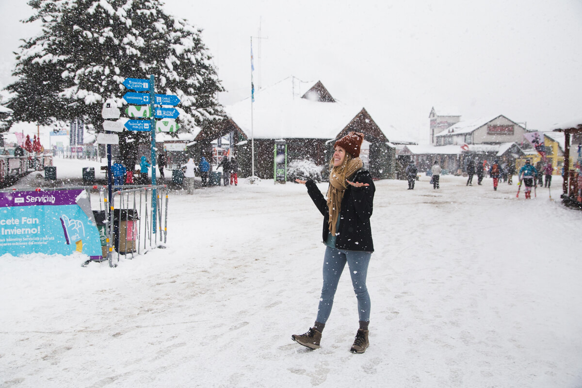 It snowed for our entire first day in Bariloche!