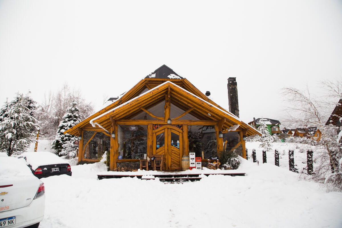 Hosteria Sudbruk, at the foot of Cerro Catedral, after a long night's snowfall.