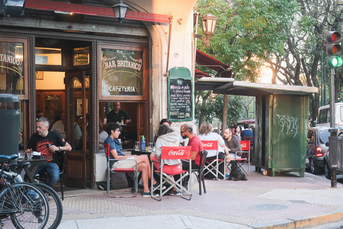 Definitely take your laptops to the many cafes of Buenos Aires, just don't use them on these outdoor tables.
