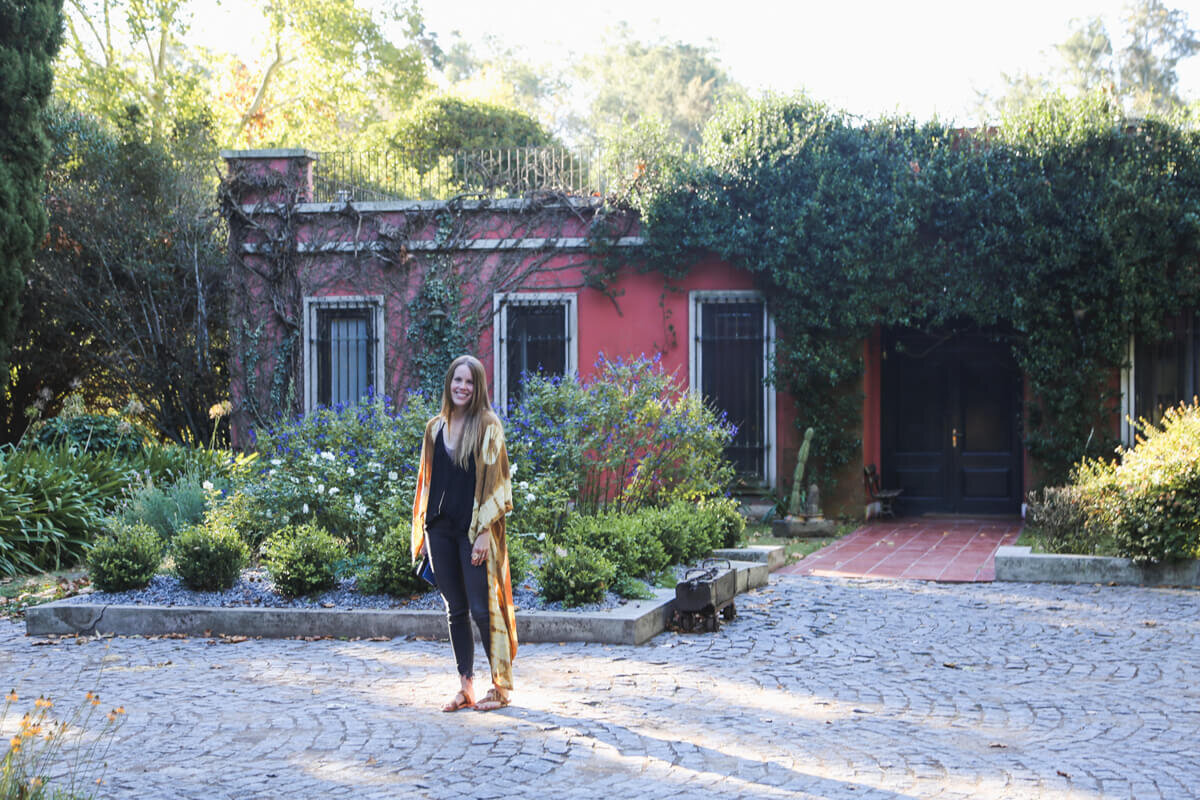 Me at one of the best hotels in Argentina, a luxury estancia in rural Buenos Aires.