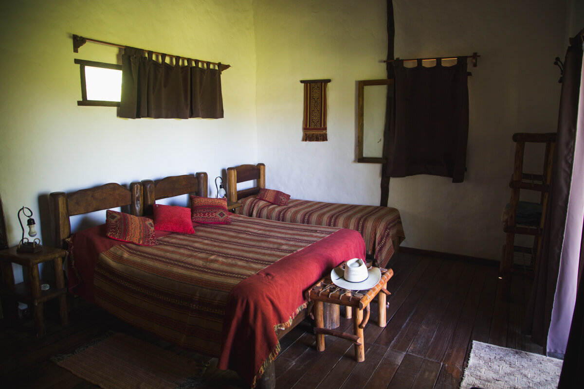 Our room at the Ecoposada had excellent views of the wetlands right from our beds.