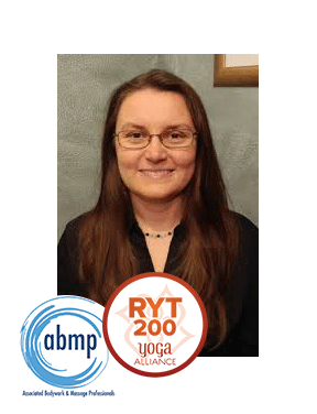 """Eszter Gozon, LMT, RYT 200, AHC Eszter is a Licensed Massage Therapist (OH lic. #33.023283), Registered Yoga Teacher and Ayurvedic Health Consultant. She """"retired"""" from a 20-year career in engineering to pursue her passion for alternative medicine. She has certifications in neuromuscular therapy, prenatal yoga and Usui Reiki. She enjoys helping people find relief from various painful conditions through awareness of body and mind. Eszter feels that personal responsibility, through nutrition, exercise and self-care, is key to optimal health and vitality."""