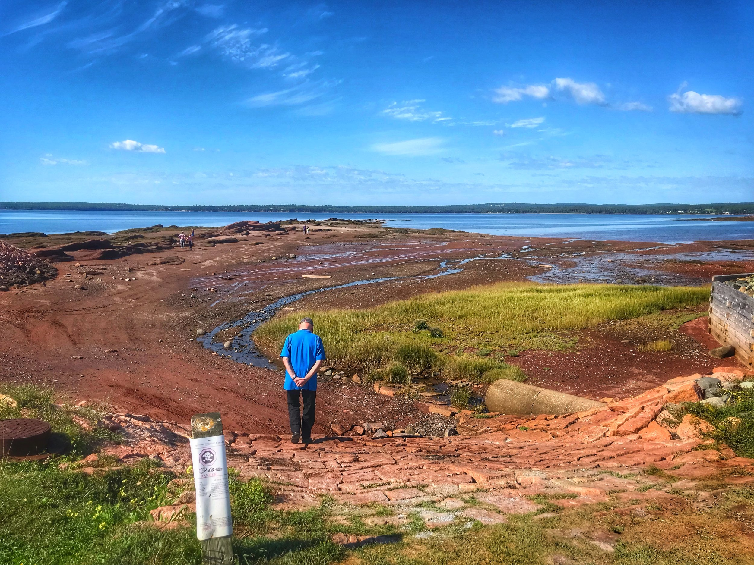 The Red beach was awesome to see. So very different from the beaches on the West Coast.