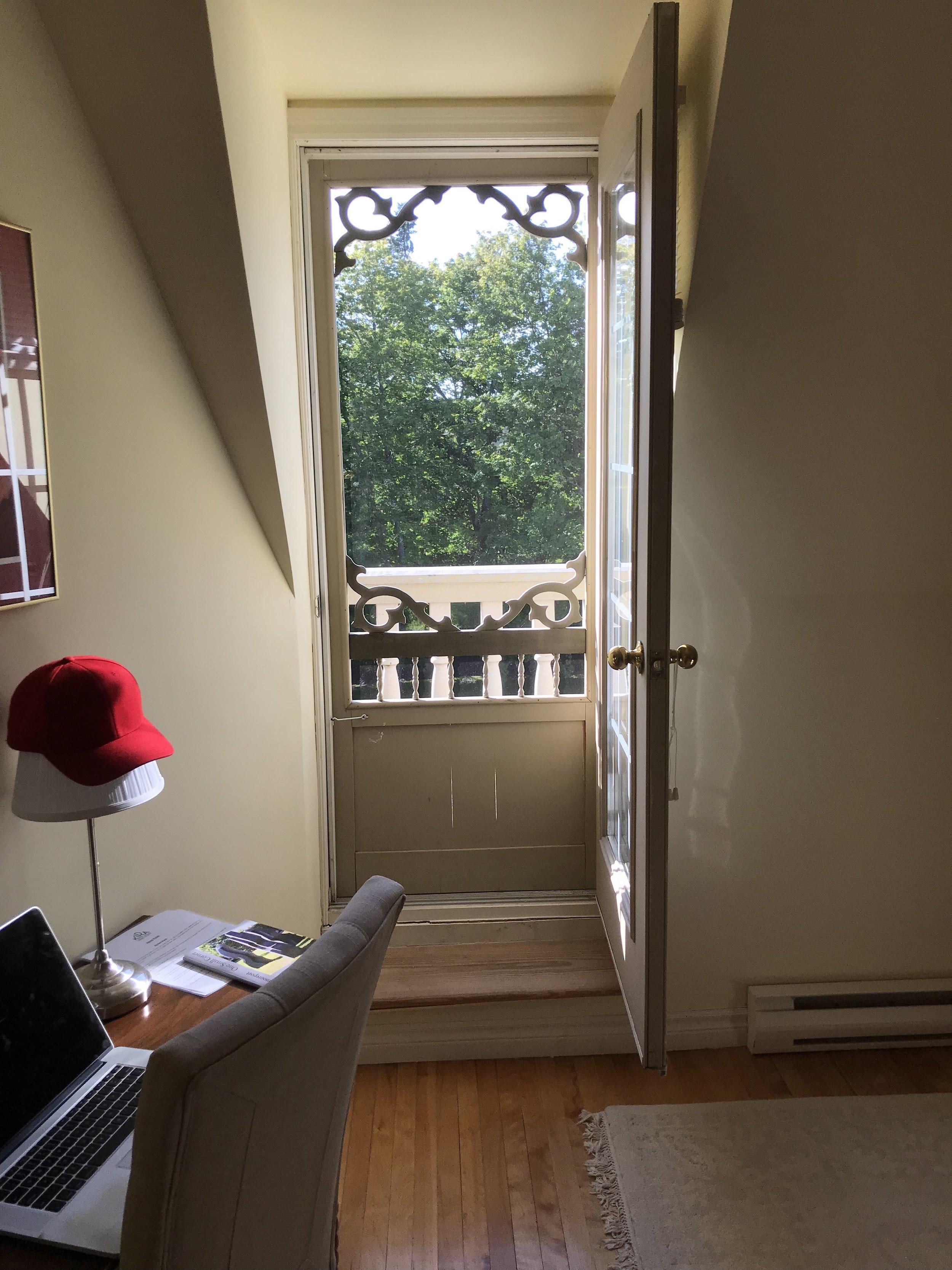 South facing patio door