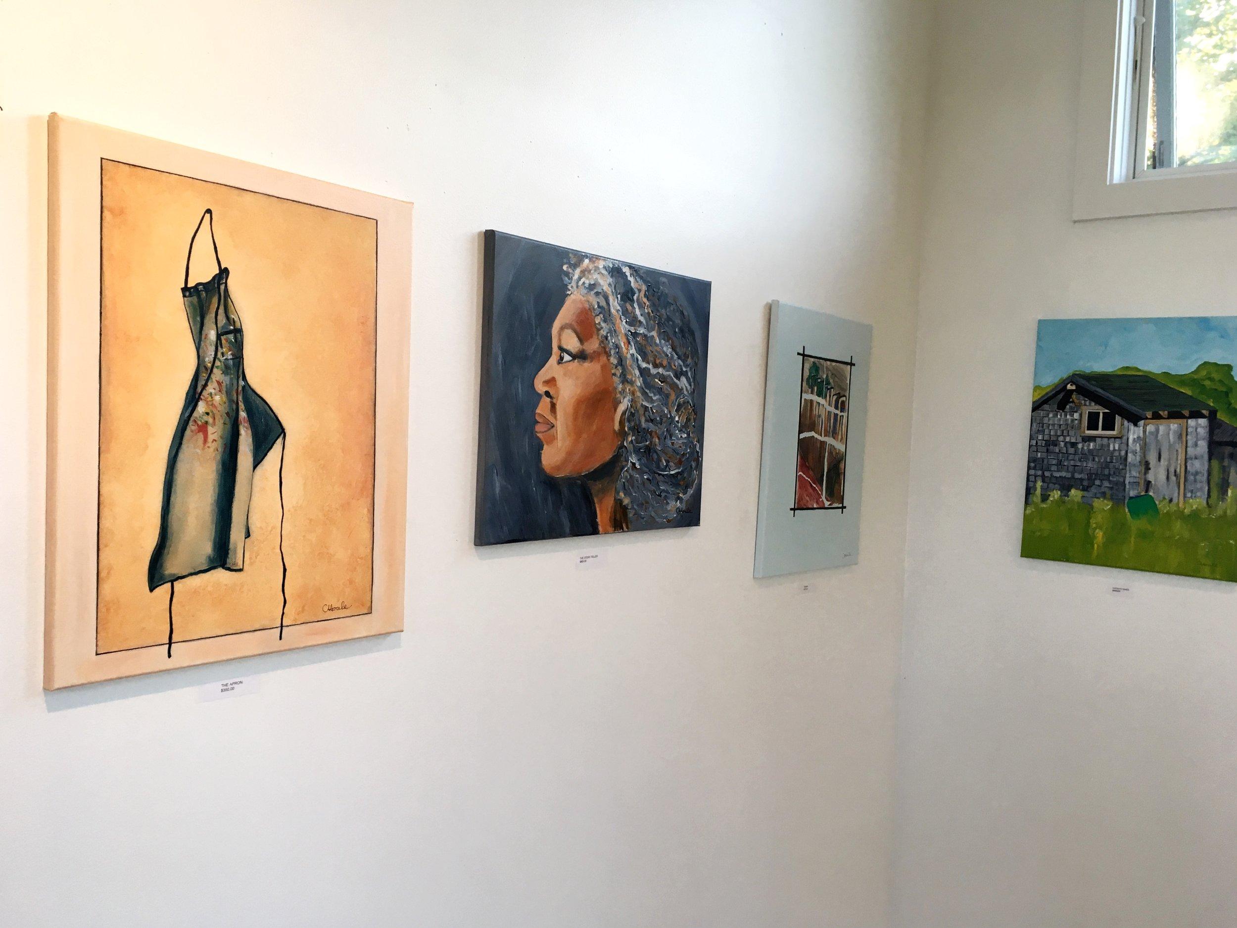 Chantal's work, acrylic on canvas.