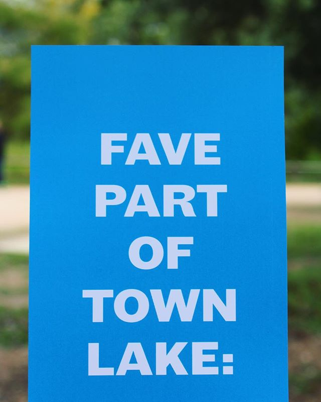 What's your favorite part of Town Lake?