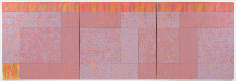 Jack Tworkov,  Triptych (Q3-75 #1) , 1975, oil on canvas, 72h x 216w in (182.88h x 548.64w cm) (CR134)