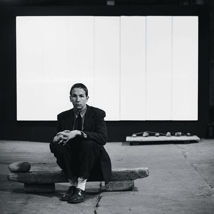 Rauschenberg at his Fulton Street Studio, 1953. © Robert Rauschenberg Foundation