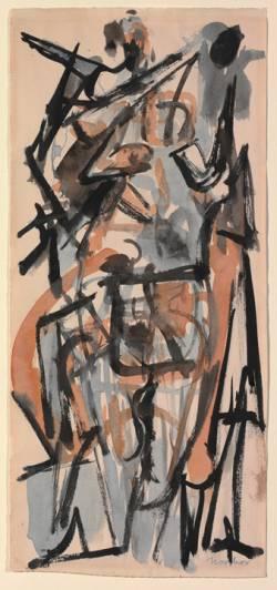 Athene, Jack Tworkov, Metropolitan Museum of Art, study, drawing, 1949