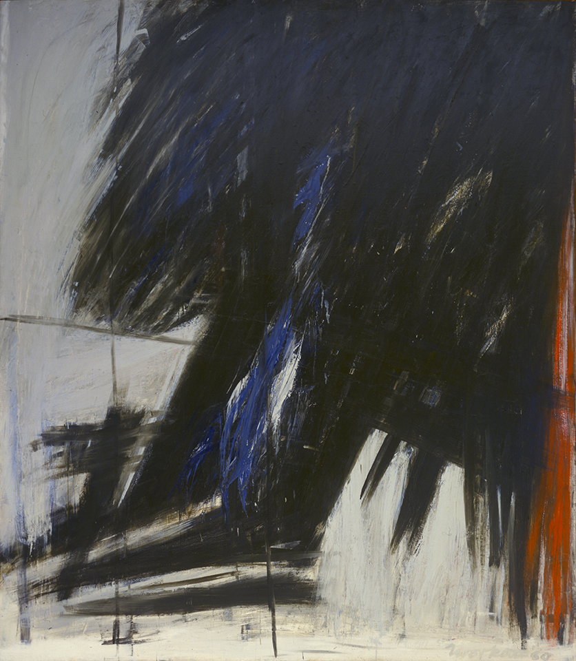 East Barrier  , 1960, Oil on canvas, 91 3/4 x 80 7/8 in. (233 x 205.4 cm) Collection of the Albright-Knox Art Gallery, Buffalo, New York, Gift of Seymour H. Knox, Jr., 1961 (K1961:7) (CR469)