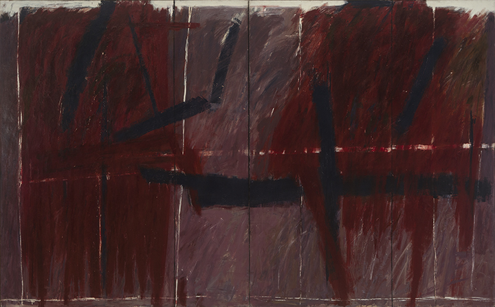 Chazen Museum of Art, Madison, WI:  Jack Tworkov,  Barrier Series #4 , 1961, Oil on canvas, Diptych: 94 x 151 in. (238.8 x 383.5 cm) Collection of the Chazen Museum of Art, Madison, WI. Gift of the artist and Dr. C.V. Kierzkowski Fund Purchase (67.12.1)
