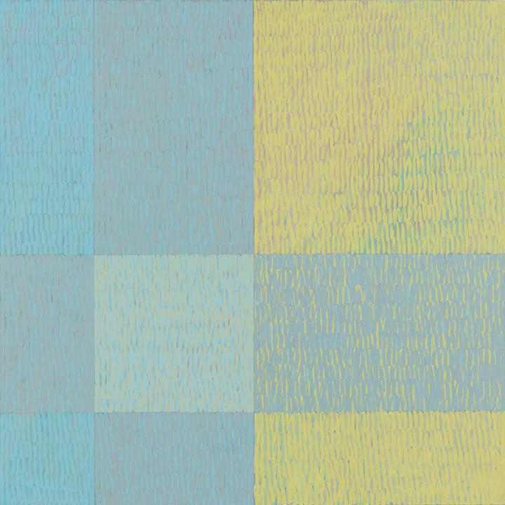 "Jack Tworkov, ""Three Five Eight #1 (Q3-75 #6), 1975, Acrylic on canvas, 80 x 80 in. (203.2 x 203.2 cm)"