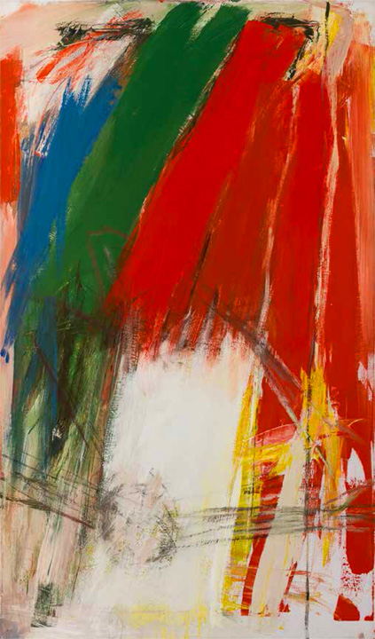"Jack Tworkov, ""Bond,"" 1960, Oil on canvas, 61 x 36 in. (154.9 x 91.4 cm) Collection of the Princeton University Art Museum (Collection of Preston H. Haskell, Class of 1960)"