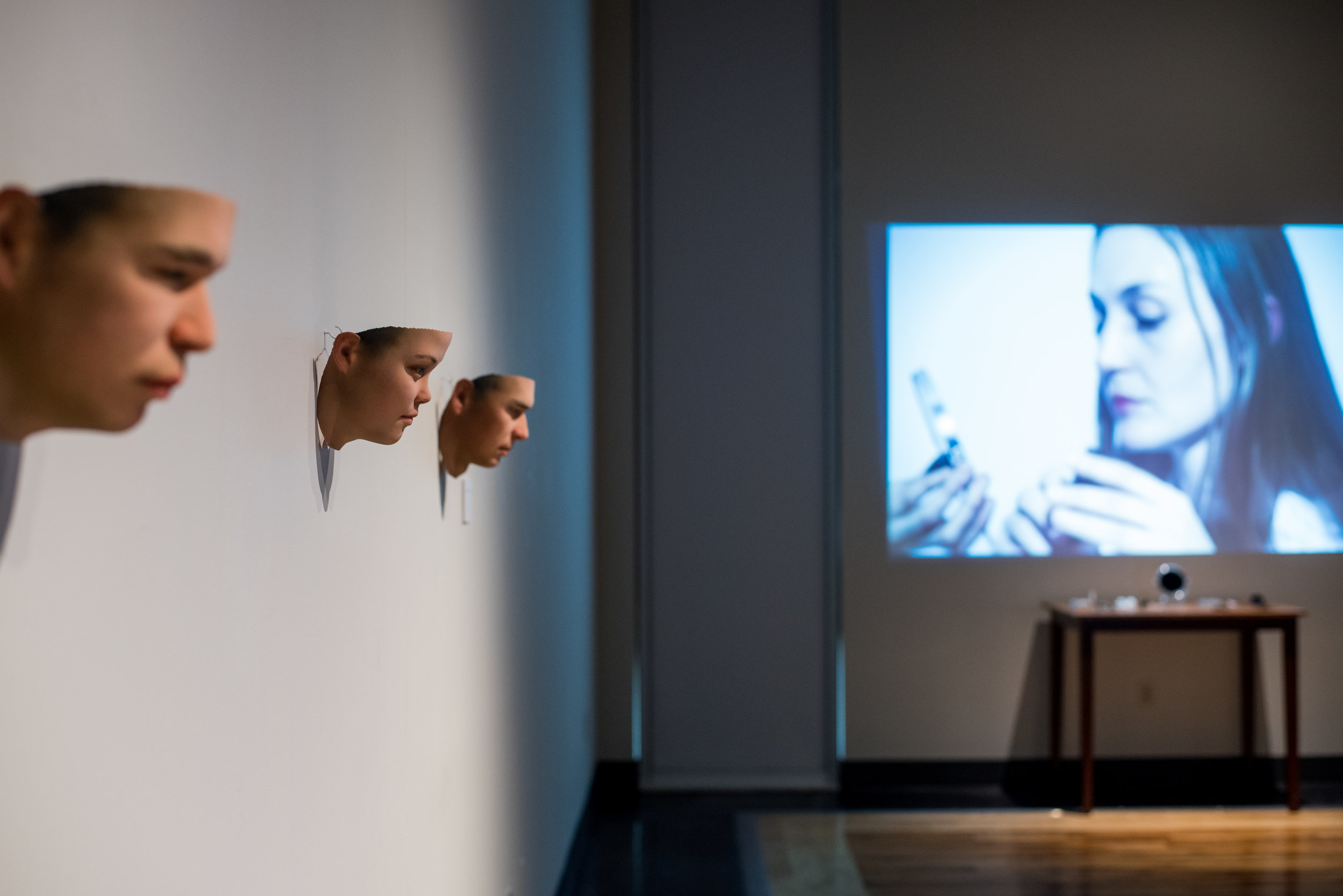 """Gallery installation image from """"Stranger Visions""""."""