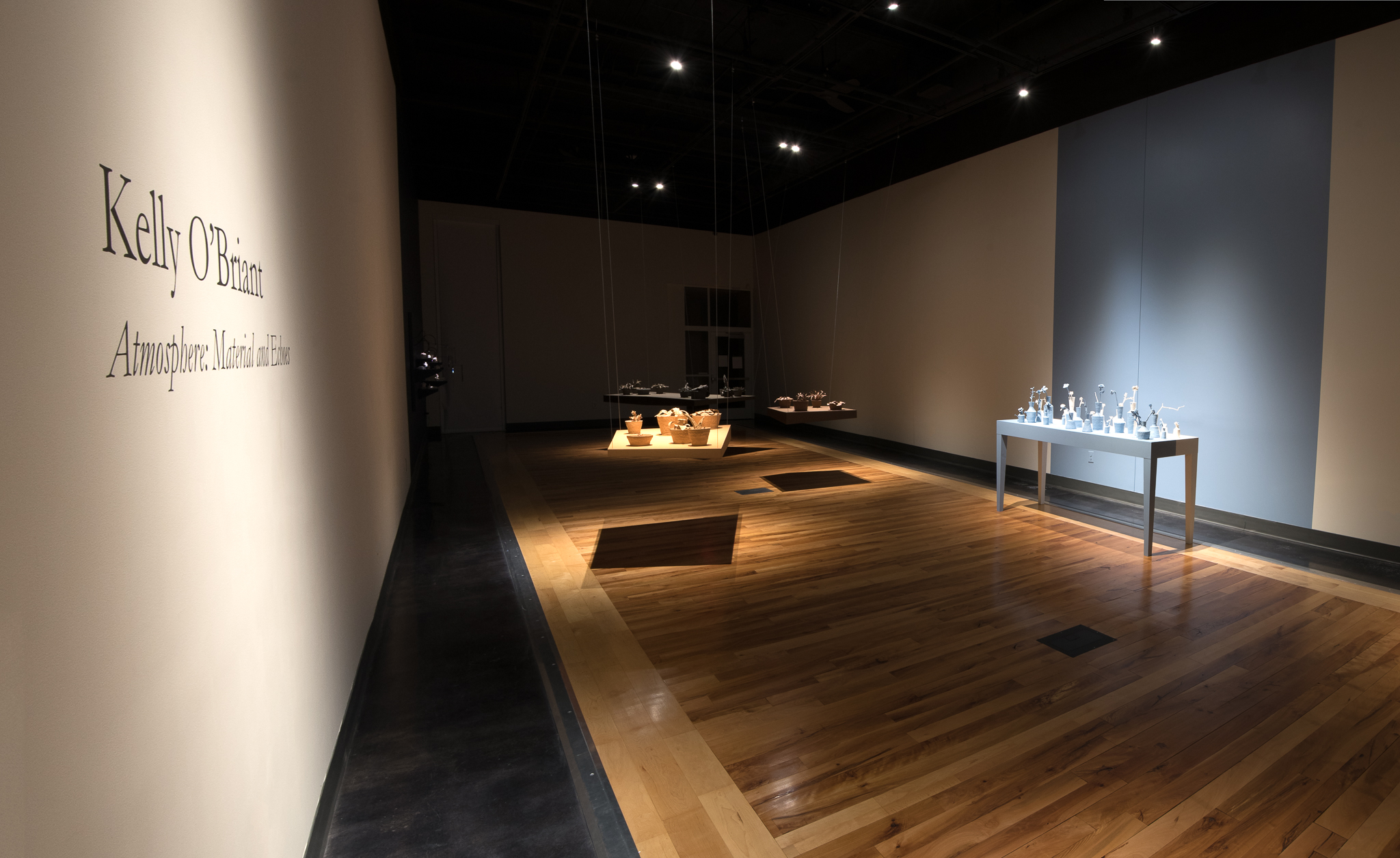 """Gallery installation image from """"Atmosphere: Materials and Echos""""."""