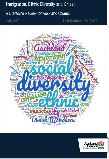 Immigration, ethnic diversity and cities: a literature review for Auckland Council - Author: Claire GooderSource: Auckland Council Research and Evaluation Unit, RIMUPublication Date: 2017This review presents insights from the international and national literature on the social impacts of immigration-driven ethnic diversity and cities, with examples of initiatives and infrastructure considerations at the city-level. The review also engages with the literature on indigeneity and immigration. This review has been undertaken to inform Auckland Council's approaches and considerations of ethnic diversity in Tāmaki Makaurau Auckland.The literature on ethnic diversity, migration and cities is complex and contradictory. What is clear, however, is the importance of understanding the national and local contexts (social, political, historical and economic), and the influence of those contexts on issues including language and categorisation, institutions and inequality.
