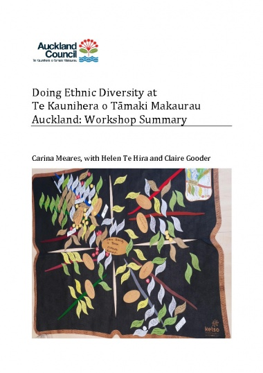 Doing ethnic diversity at Te Kaunihera o Tāmaki Makaurau Auckland: workshop summary - Author: Carina Meares, Claire Gooder, Helen Te HiraSource: Auckland Council Research and Evaluation Unit, RIMUPublication date: 2017This workshop overview, and the Literature Review* that sits alongside it, provide a conceptual and practical foundation for the potential development of 'diversity' policy at Auckland Council.The literature review focuses on four main areas: the social impact of ethnic diversity; city level initiatives that focus on diversity and inclusion; ethnic diversity and the development of infrastructure at the city level; and the intersection between indigeneity and immigration. The relationship between migration, ethnicity and inequalities is a cross-cutting theme and is woven through these four sections. The workshops, with their focus on the perceptions and experiences of participants, provide a counterpoint to the findings of the literature review. What we mean by this is that the workshops privilege the voices of Auckland Council staff and local academics in ways that balance the focus of the literature review on published sources from around the world.*See also:Immigration, ethnic diversity and cities: a literature review for Auckland Council. Auckland Council technical report, TR2017/008