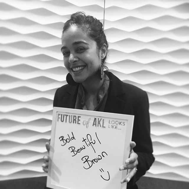 "#FutureofAKL looks like it will be... ""Bold. Beautiful. Brown :)"" - Dione Joseph from @productions.jk & Creative Director of 'The Future of Auckland video creative storytelling campaign... From the Caribbean 🇯🇲"