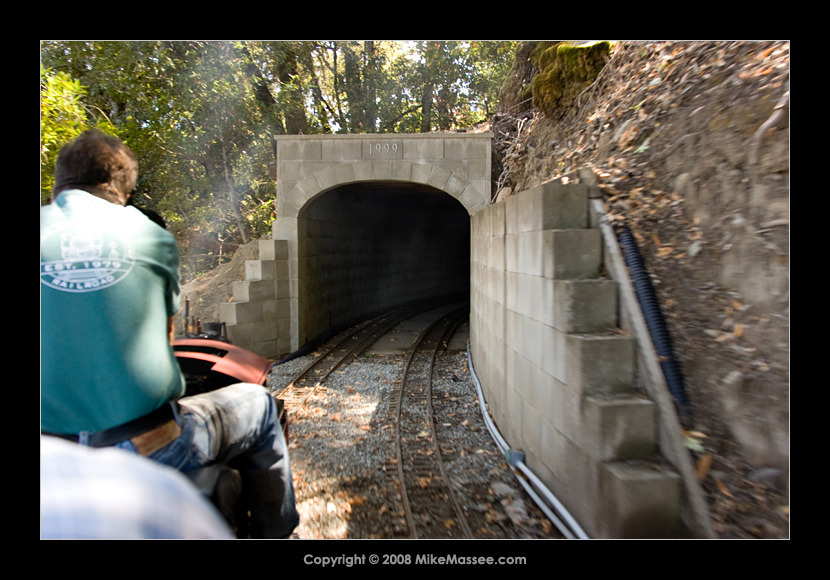 Approaching the Bovine tunnel