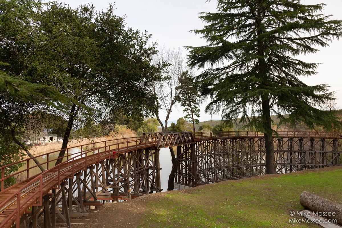 Redwood trestle and Howe truss bridge