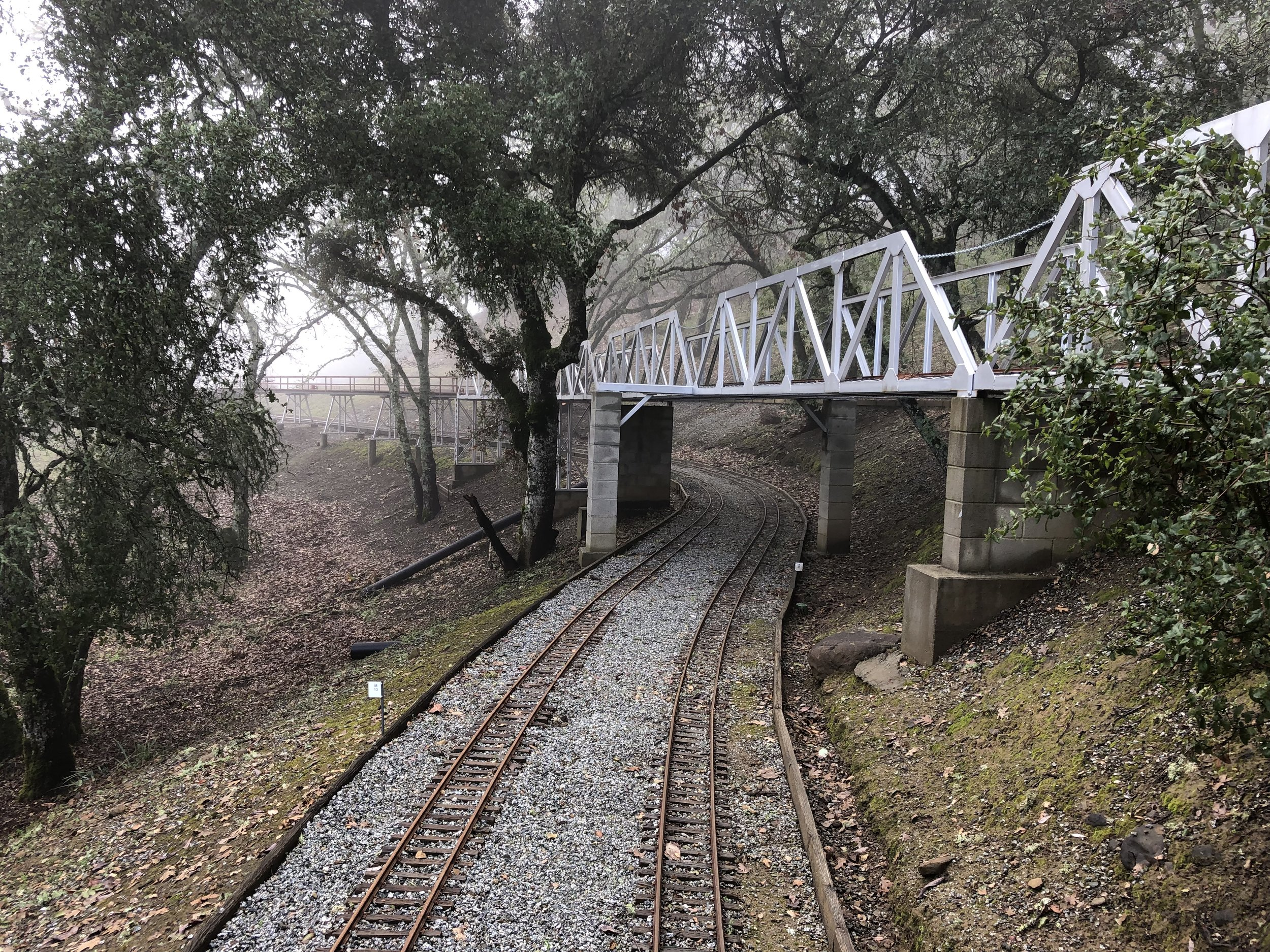 Silver bridge and trestle set