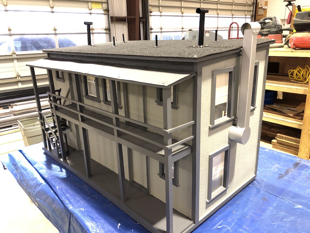 Beautifully refurbished little building by Ron awaiting its new home
