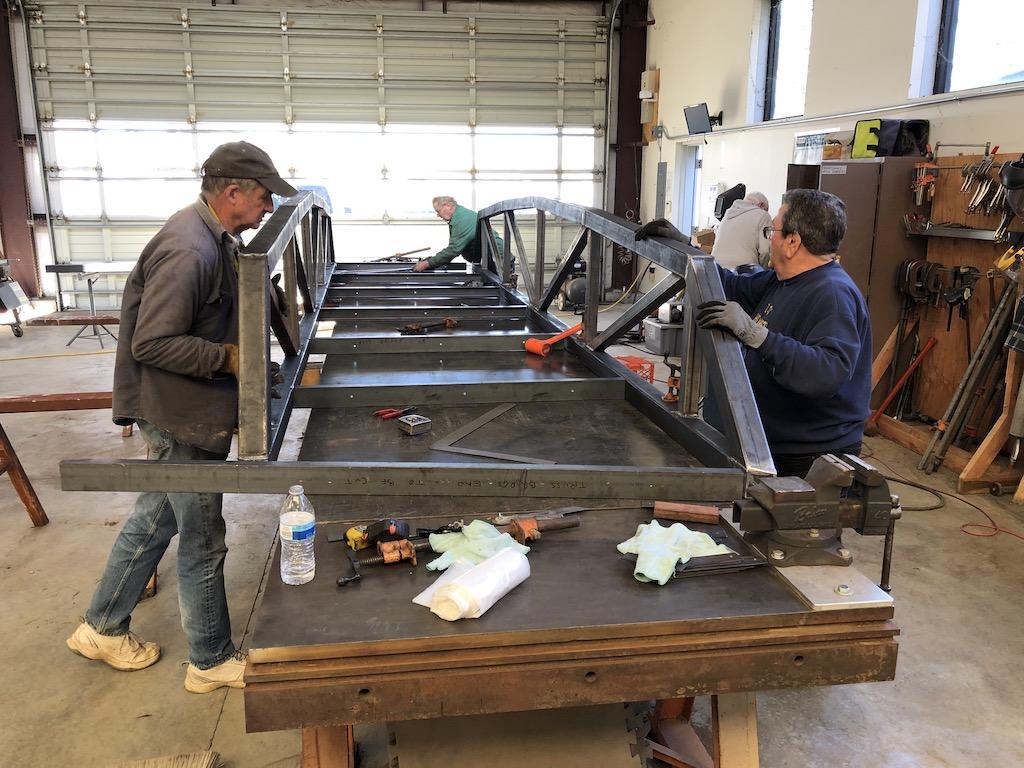 Steel fabrication station