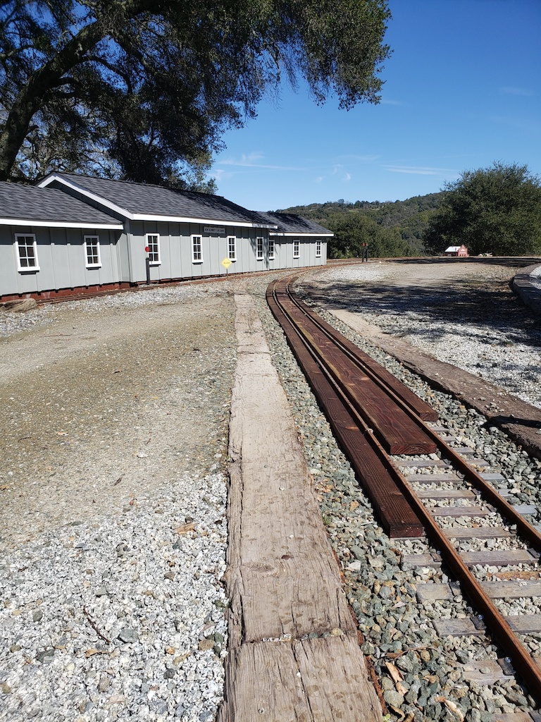 Bruce started to replace our grade crossing with PT