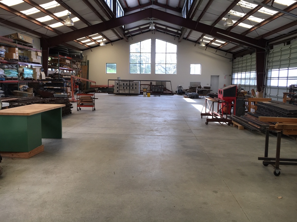 PVARR shop after an all hands cleaning effort