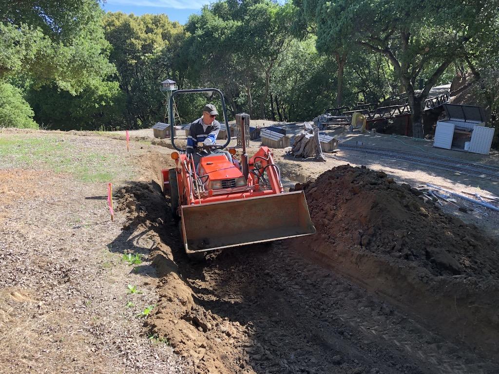 Bill begins grading for the Lumber Camp bridge track