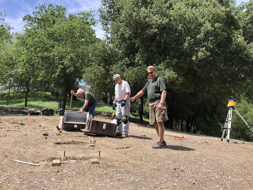 Mike, Ed, and Kevin move Lumber Camp little buildings and discover a rattlesnake