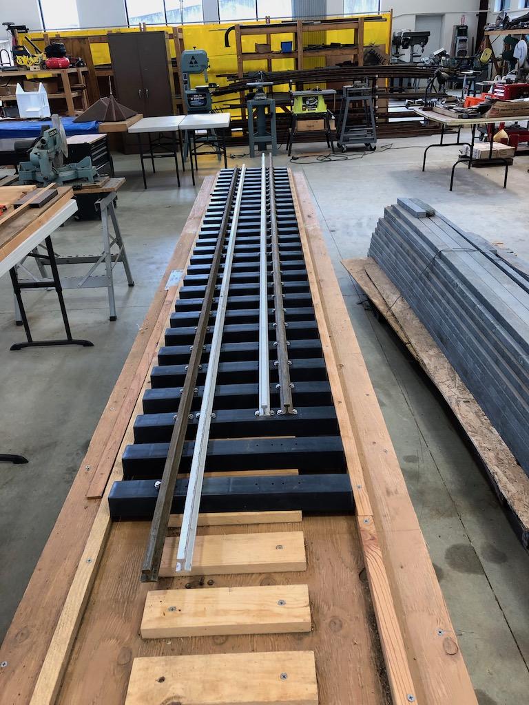 Lumber camp bridge test track panel