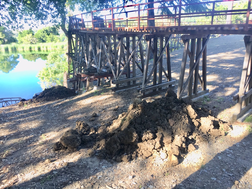 Kens dirt for the Redwood Trestle was delivered by Bruce