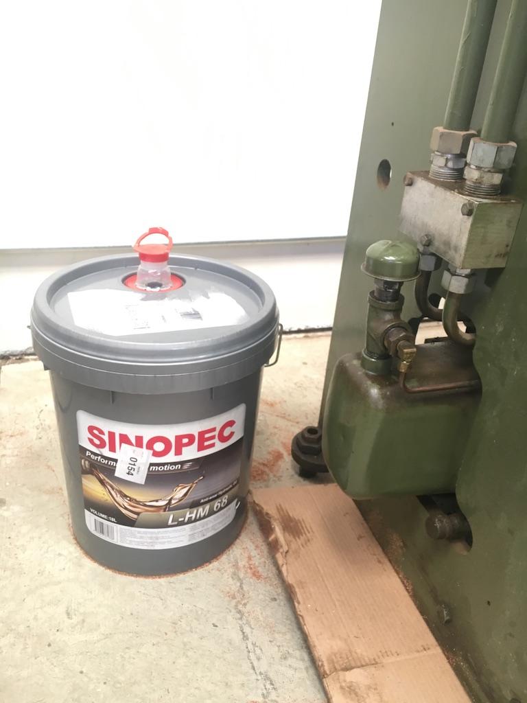 Adding fluid to the press brake