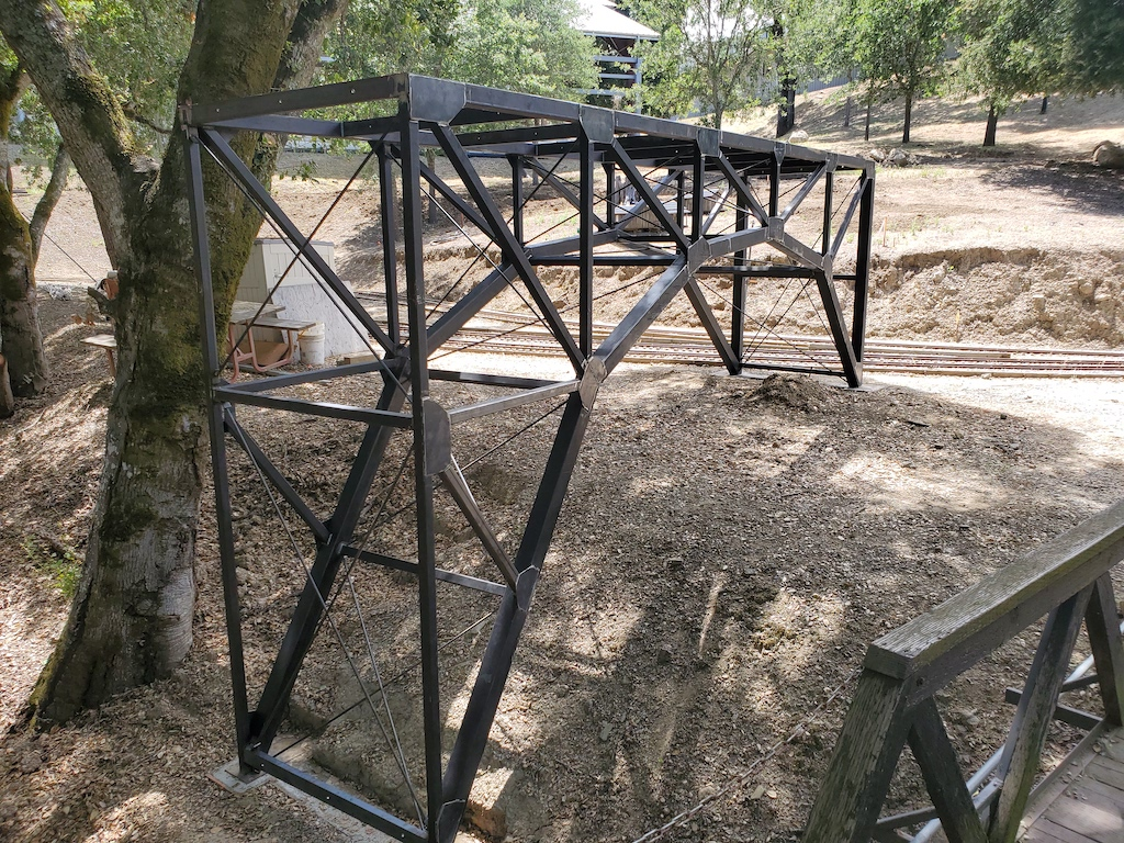 First section of Lumber Camp Bridge installed