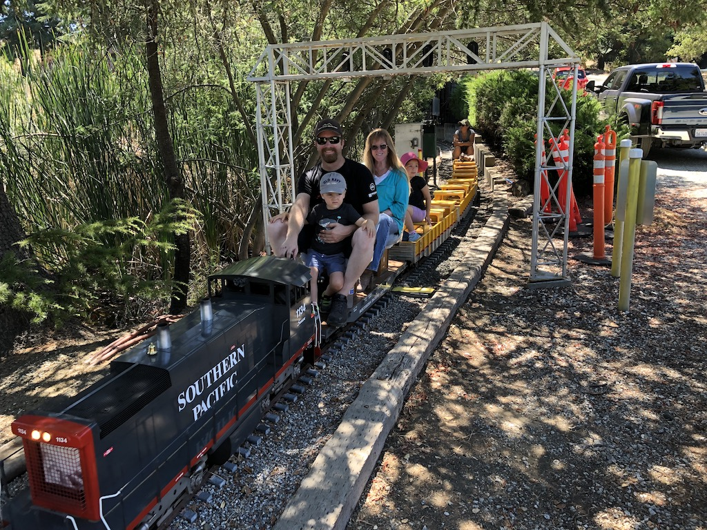 Brandon & family test out the new diesel consist