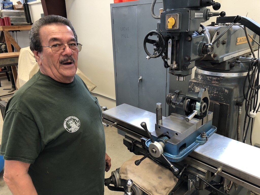 Carl repaired and donated an indexing head for the mill