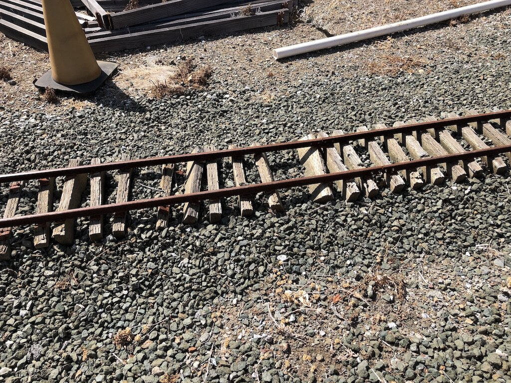 This rarely used track at Rabbit Flat has seen better days