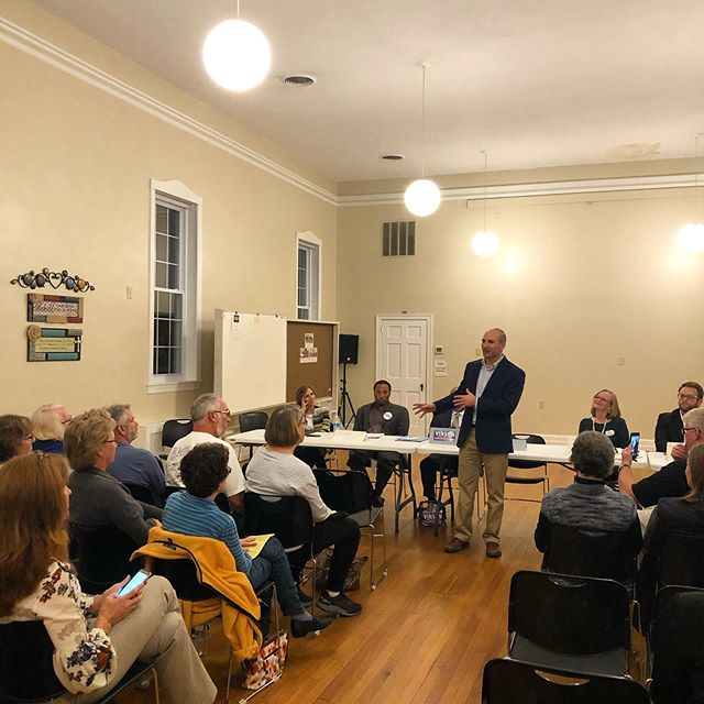 Grateful for the opportunity to be with the Spring Bank community last night. It was the neighborhood my wife and I first moved to in Fairfax County and it was exciting to be back to share my vision for a criminal justice system that is able to change as we do.