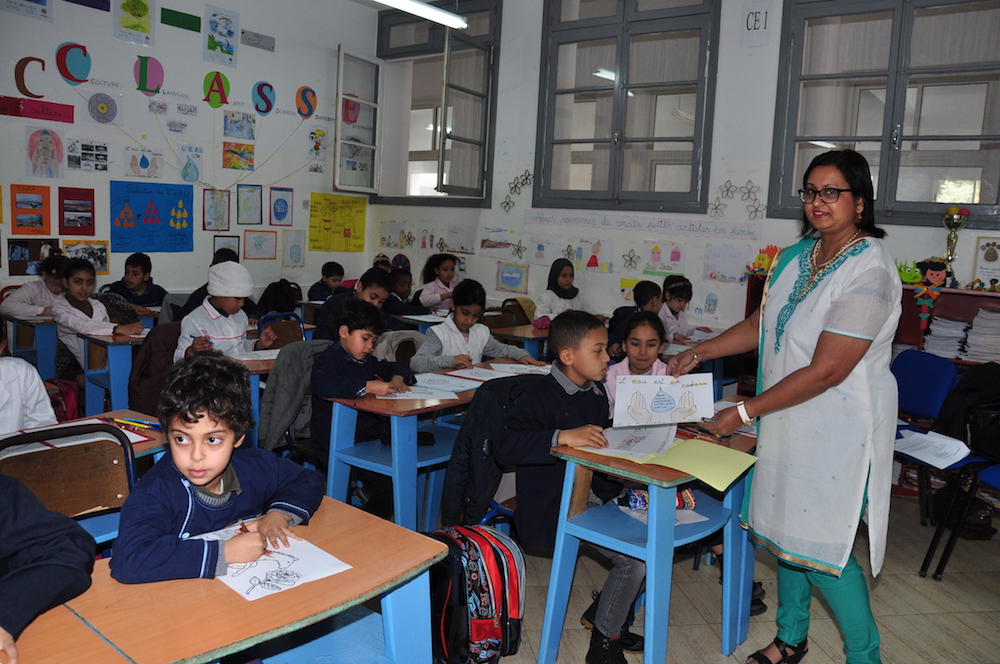 Day 2: Classroom Assessment – Prof Lalini Reddy with the children in the classroom