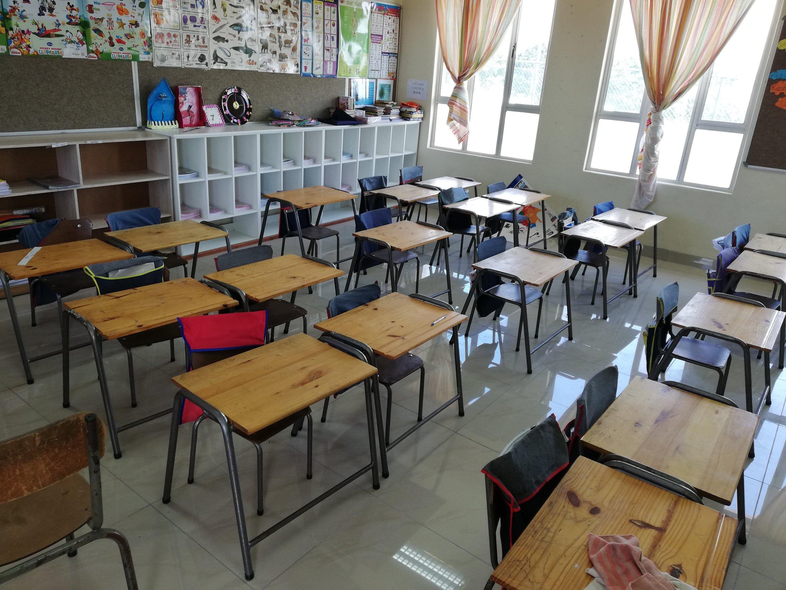 Block A Classrooms tiled