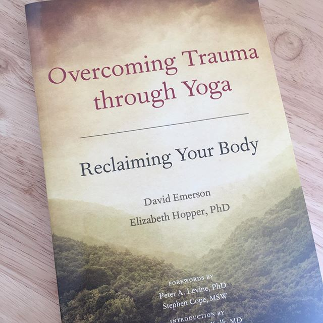 'Overcoming Trauma through Yoga - Reclaiming Your Body' ⠀ This has become a real area of interest for me. I have already read Bessel A. van der Kolk's book 'The Body Keeps the Score' and found it incredibly helpful in understanding the impact of PTSD on the mind and body. ⠀ Gaining a better understanding has helped my own recovery so much. It is useful to acknowledged that I am not alone in the symptoms I have experienced, and that they are all normal reactions to trauma. ⠀ I have personally found Yoga has been instrumental in working on disassociation. It allows me to notice sensations and recognise them as different from what I felt in the past. I'm interested to read if my own experience ties in with the existing research. I also want to explore questions like: ⠀ Is it possible to recover from trauma with Yoga/movement practices alone? ⠀ Is there an evidence base for using Yoga as a treatment for PTSD? ⠀ Are traditional talking therapies like CBT enough? ⠀ If anyone has any other book recommendations, or links to papers/articles then please leave them below. ⠀ #overcomingtraumathroughyoga #reclaimingyourbody #overcomingtrauma #ptsdtherapy #yogafortrauma #yogafortraumarecovery #traumatherapy #thebodykeepsthescore #movementbasedtherapy #traumasensitiveyoga