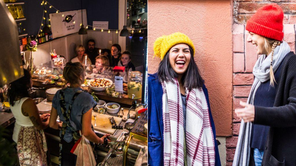 Daniela (links) und Nasti teilen sich ihre Läden lieber mit anderen, statt sich jahrelang zu binden.  Foto: arteplikesphotography