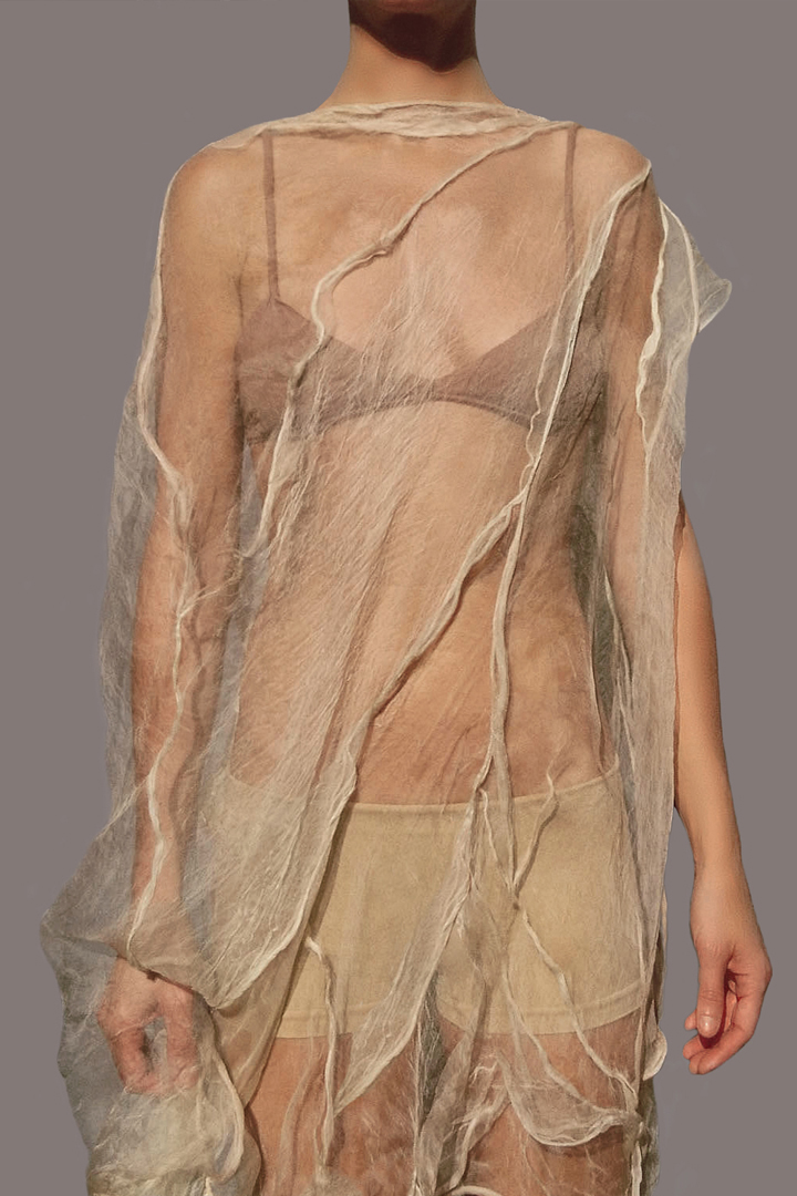 Moulded & Draped Silk Gauze