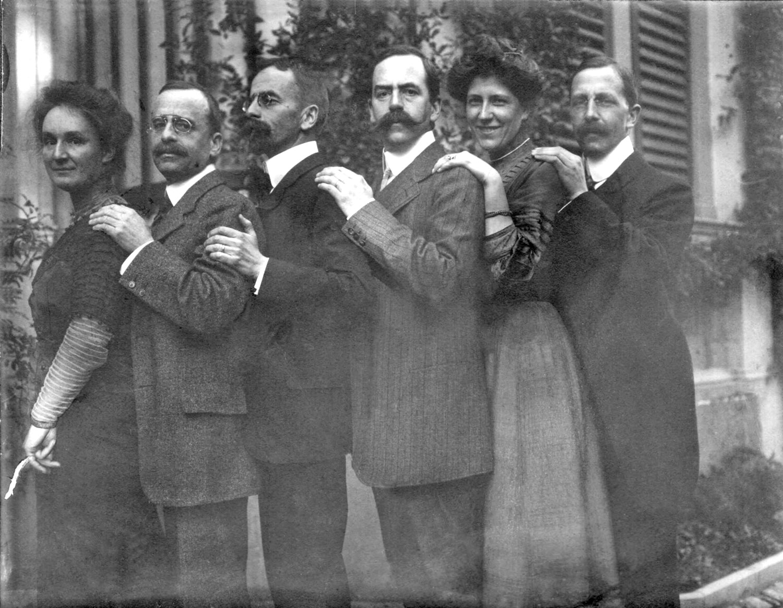 Hedy, Paul, August, Arthur, Ida und Emil Hahnloser, vor Dezember 1910