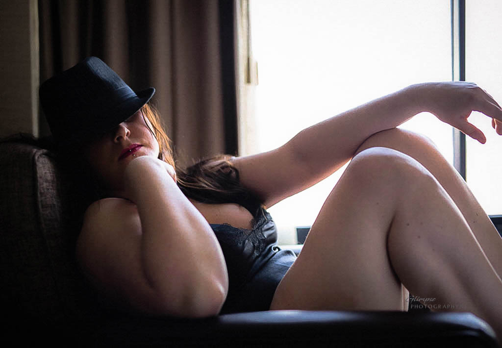 """Mystery is sexy - """"…Helped me open up and had so much fun during my boudoir photo shoot. Couldn't have asked for a better session! … Thank you!!!!""""—Ms. S."""