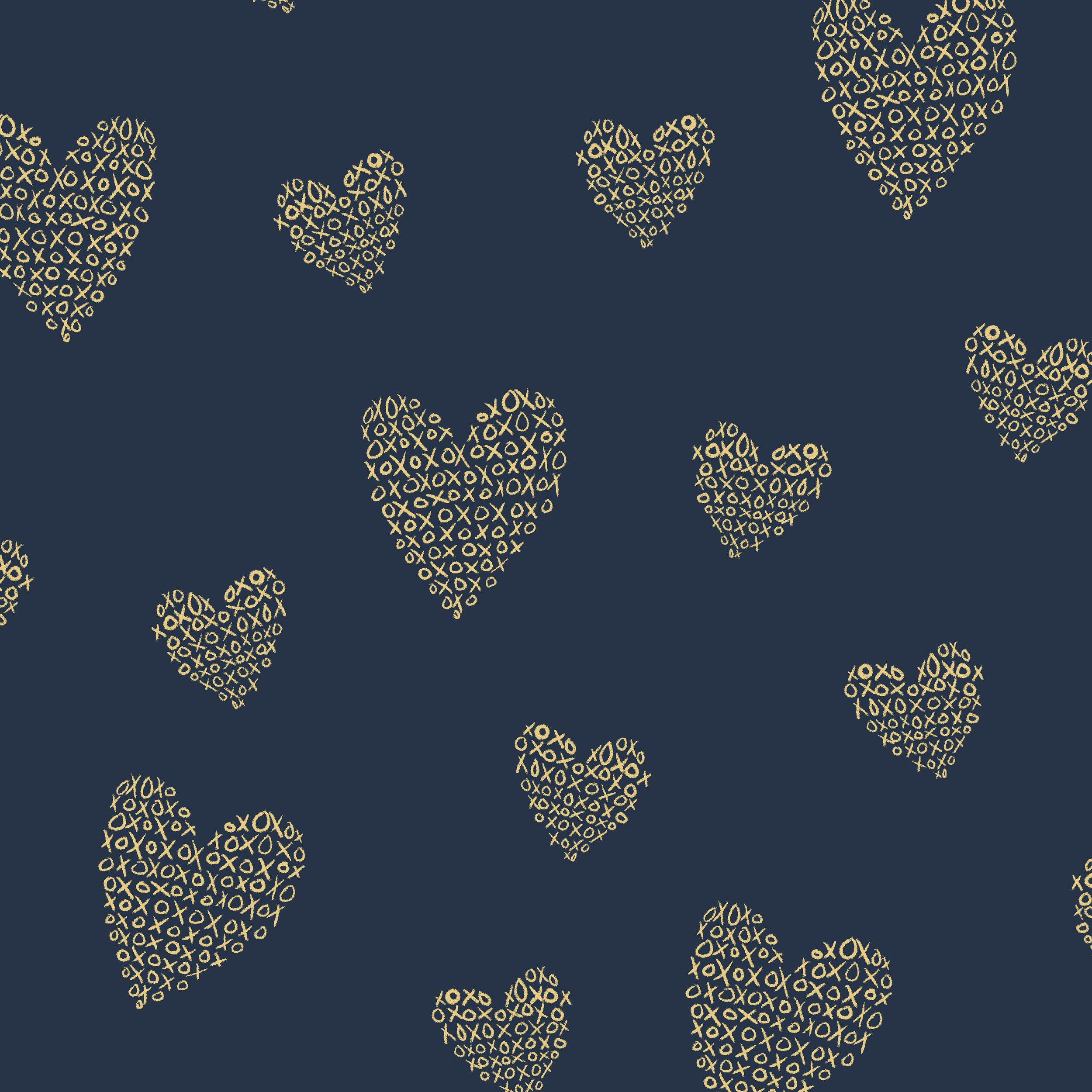 foil xoxo hearts