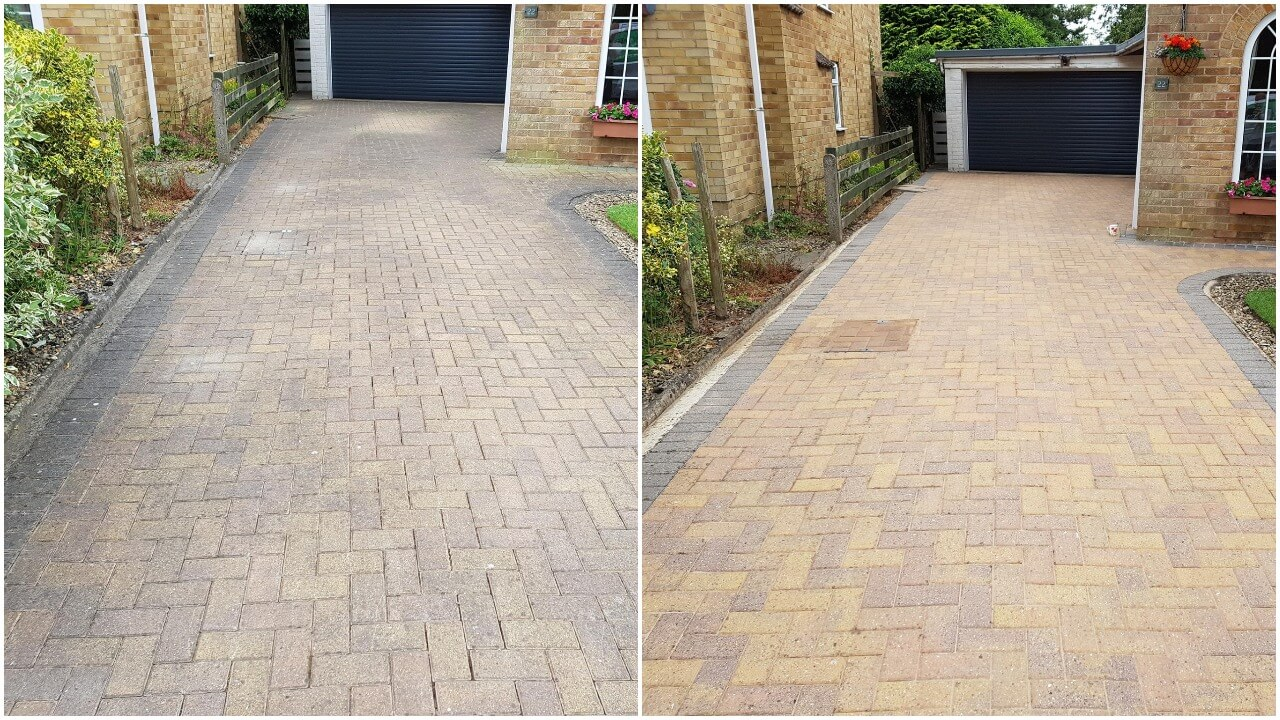 """Yorkshire Pressure Clean -   block paving jet washed, rinsed down, then re-sanded in York YO32.   """"We Clean to a Standard Not to a Price"""""""