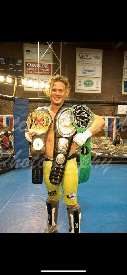 """Randy """"The Redneck Brawler"""" Felion - Current 185lb DonnyBrooke Muay Thai ChampionCurrent XCP 205lb KickBoxing ChampionCurrent Victory Cruiser weight MMA ChampionOwner of Fight Night PromotionsFights for Green Mountain fight teamFighting style: Wrestler, grappling, Brawling"""